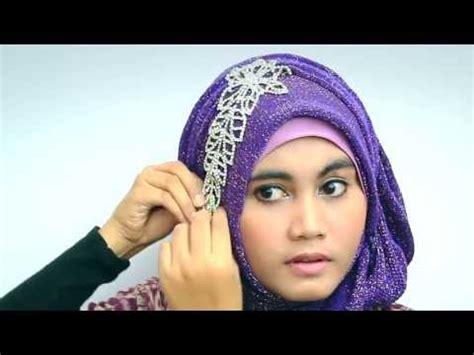 tutorial pashmina rajut glitter hijab tutorial 2013 with glitter shawl for party hijab