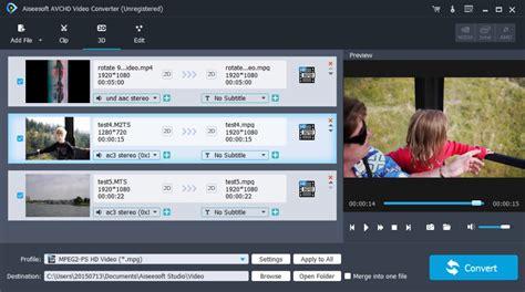 format video mts avchd video converter convert camcorder avchd video