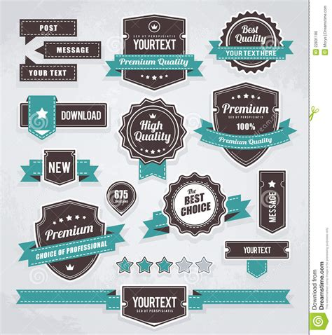 label design eps vector set of retro labels royalty free stock image