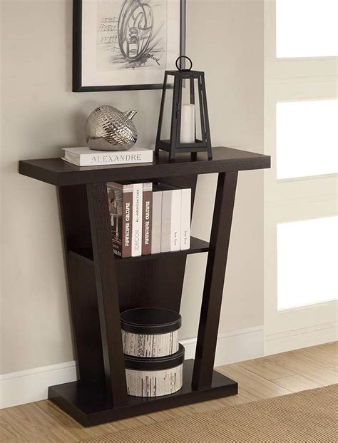 espresso wood accent entryway display console table with high end entry hall tables home design inside