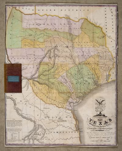 map of texas 1836 dorothy sloan books auction 23