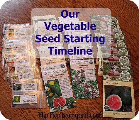 Our Vegetable Seed Starting Timeline Timeline Toms And Vegetable Garden Timeline