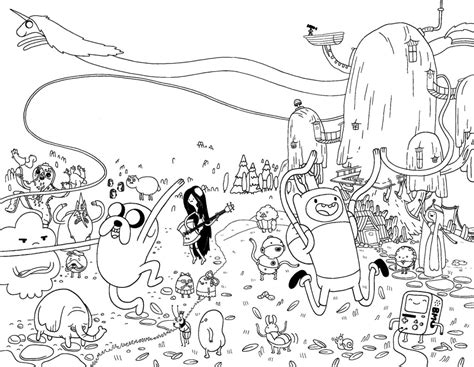 adventure time coloring pages4 free printables coloring