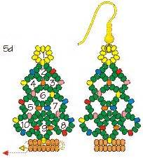 instructions for beaded christmas tree earrings lots of