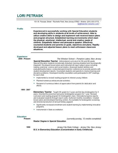 cover letter for teaching resume resume templates easyjob