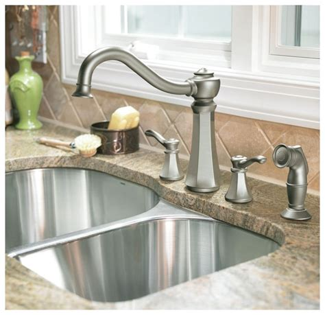 moen 6301bn vestige two handle lavatory faucet with drain faucet com 7068csl in classic stainless by moen