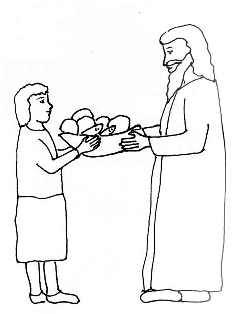 Coloring Page Of 5 Loaves And 2 Fish by Bible Story Coloring Page For The Feeding Of The Five