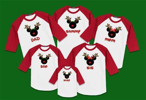 Family Raglan quot reindeer quot family raglan t shirts disney