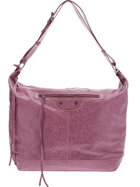 Balenciaga The Courier Bag by Balenciaga Courier Tote Bag In Purple Mauve Lyst