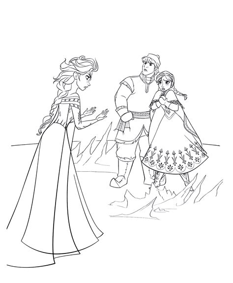 frozen coloring pages and kristoff family frozen coloring pages and kristoff family