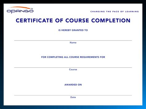 Continuing Education And E Learning Solutions Opango Ceu Certificate Of Completion Template
