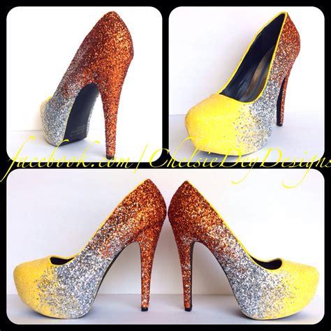 yellow and silver heels is heel