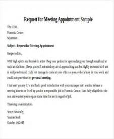 Business Letter Sle For Meeting Request Formal Request Letters