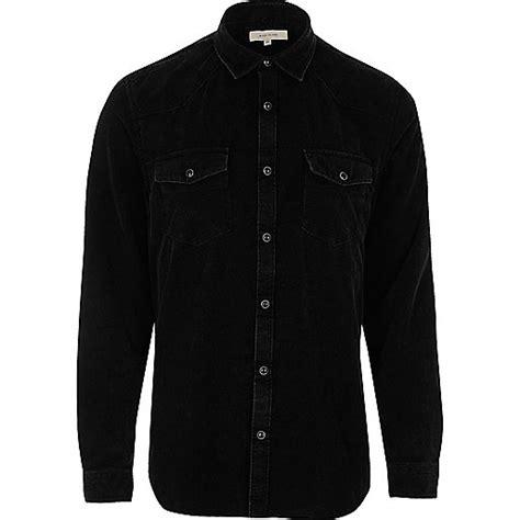 Corduroy Sleeve Shirt black corduroy western style shirt sleeve shirts