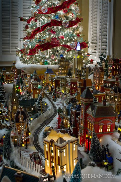 pool city christmas trees photographing a miniature city by department 56 masqueman photography and design