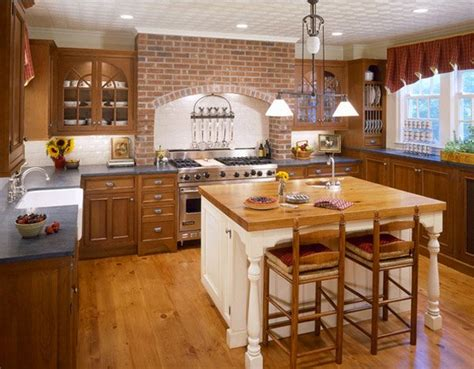 brick kitchen designs 15 charming brick kitchen designs home design lover