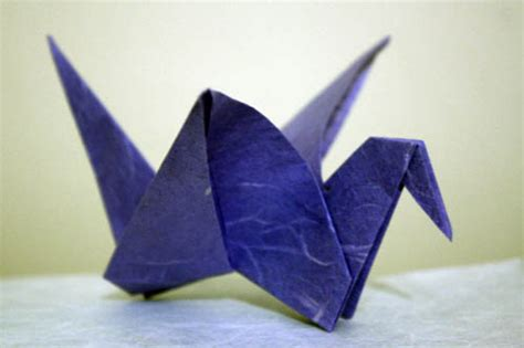 Origami Flying Crane - origamisan origami flying crane