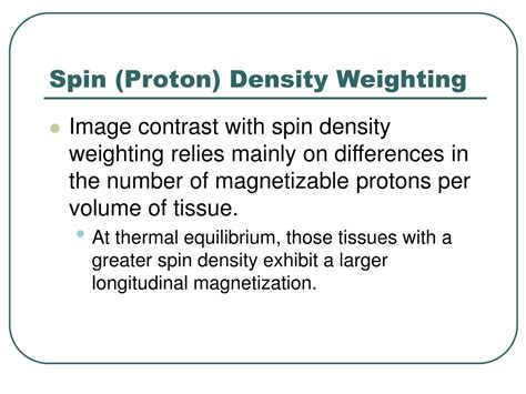 Density Of Proton by Ppt Pulse Sequences Powerpoint Presentation Id 394616