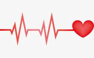 Red heart line chart, Dividing Line, Electrocardiogram