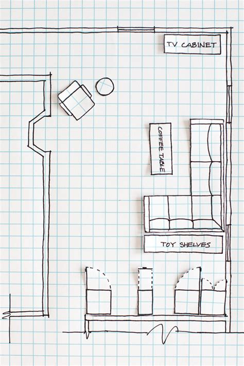 How To Draw Plans | how to draw a floor plan a beautiful mess