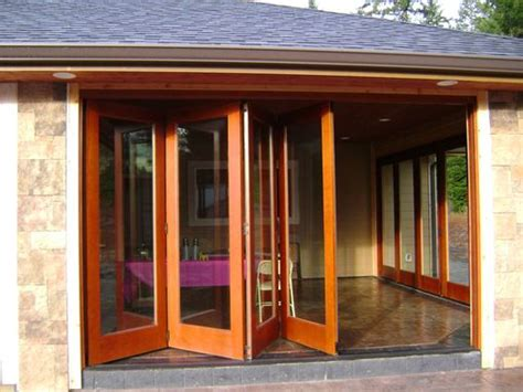 handmade folding exterior wood window walls  lacey door