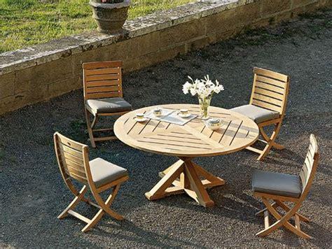tavoli rotondi da giardino tavolo da giardino rotondo in teak cronos tavolo da