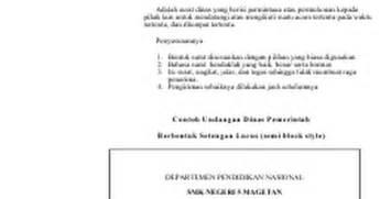 contoh surat dinas doc docs