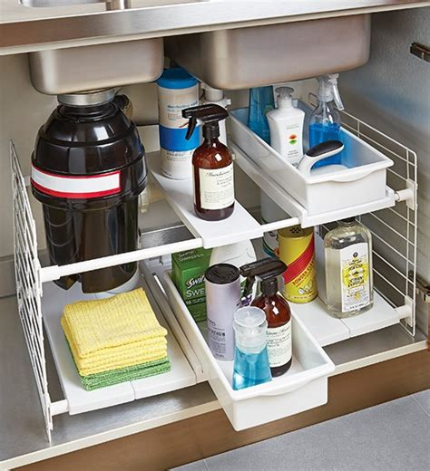 kitchen sink storage ideas under the sink storage ideas inspirationseek com