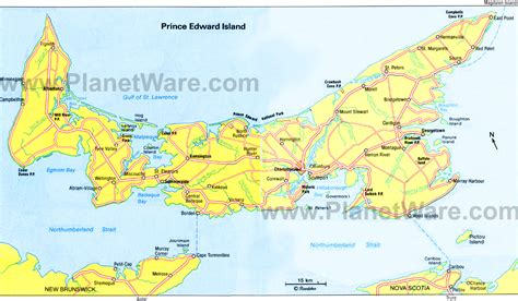 prince edward island map of canada trevor millsaps prince edward island map