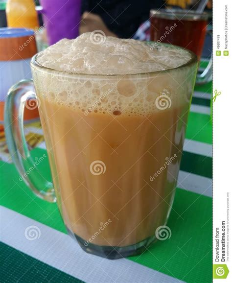 Teh Tarik Malaysia teh tarik tea with milk stock photo image 49607479