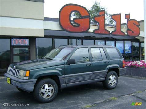 green jeep grand cherokee 1993 hunter green metallic jeep grand cherokee laredo 4x4