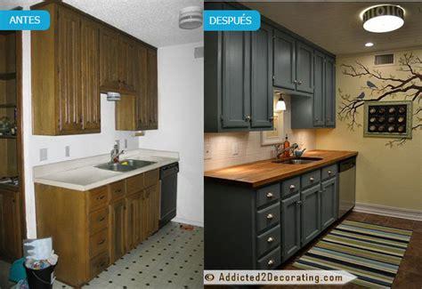 pintar cocina pintar muebles de cocina antes y despu 233 s fotos y