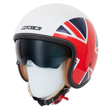 open face motocross helmet spada raze empire british uk flag open face scooter