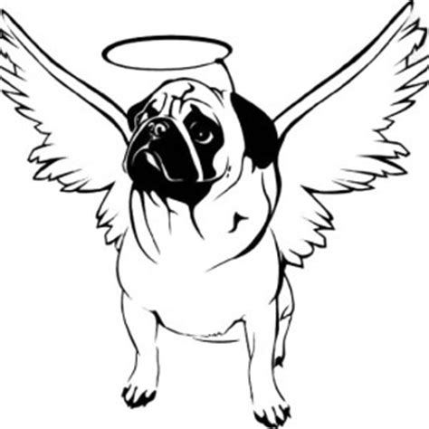 outline of a pug pug outline coloring page color