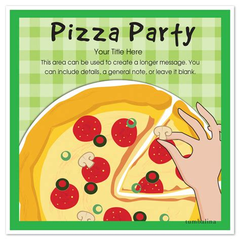 Pizza Birthday Card Template by Pizza Pizza Invitations Cards On Pingg