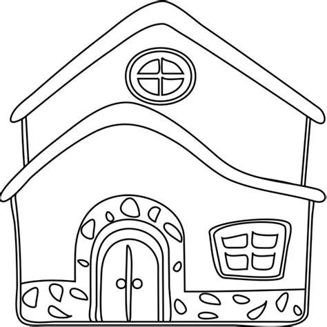 disegni casa disegno di la casa da colorare per bambini