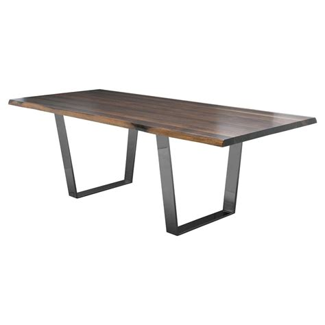 Black Oak Dining Table Cogsworth Industrial Brown Oak Black Dining Table 78w Kathy Kuo Home
