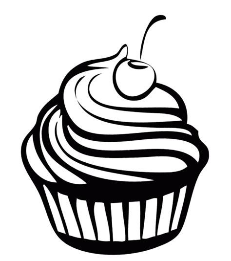 coloring pages of cupcakes and cookies sweet cupcake chocolate coloring page cookie pinterest