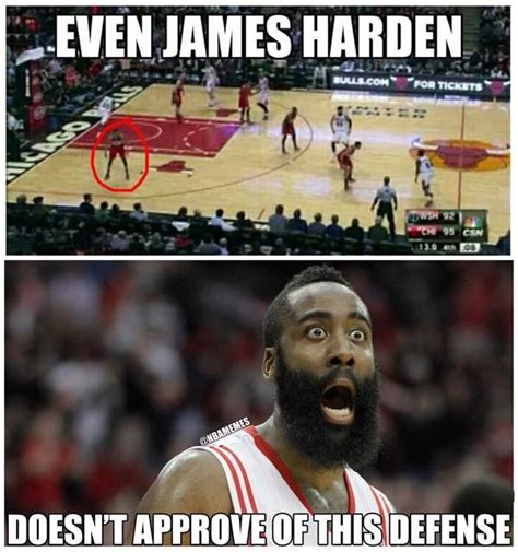 James Harden Memes - james harden disapproves of this defense o http
