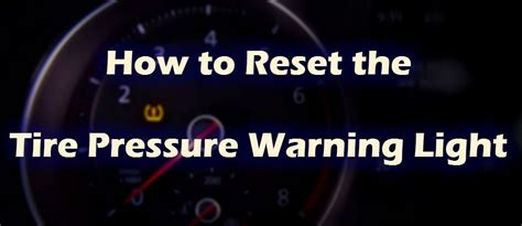 reset  vw tire pressure monitoring system