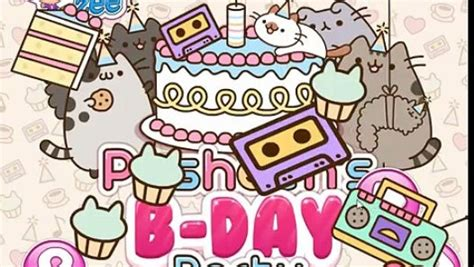birthday themes dailymotion ღ pusheens birthday party funny pusheen the cat game for