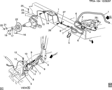 service manual 1994 gmc sonoma brake replacement system diagram 1993 gmc 1500 parking brake