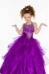 lovely princess ball halter purple organza ruffle