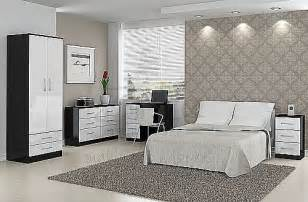 gloss white bedroom furniture lynx black with gloss white bedroom furniture range