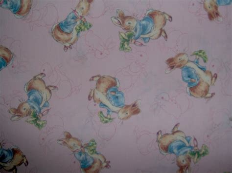 Beatrix Potter Quilt Fabric by Bty Beatrix Potter Rabbit On Pink Toile Quilting