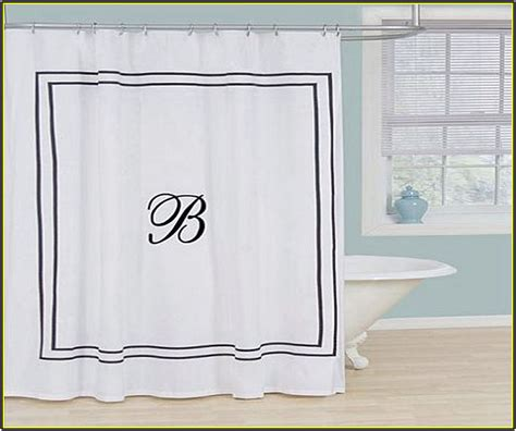 Lowes Kitchen Backsplash monogrammed shower curtain black and white home design ideas