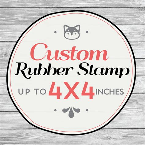 customized rubber st trends in stationery custom 19 images custom rubber