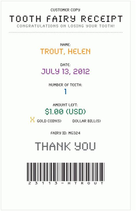 tooth receipt template free get beachy waves today you you want to awesome