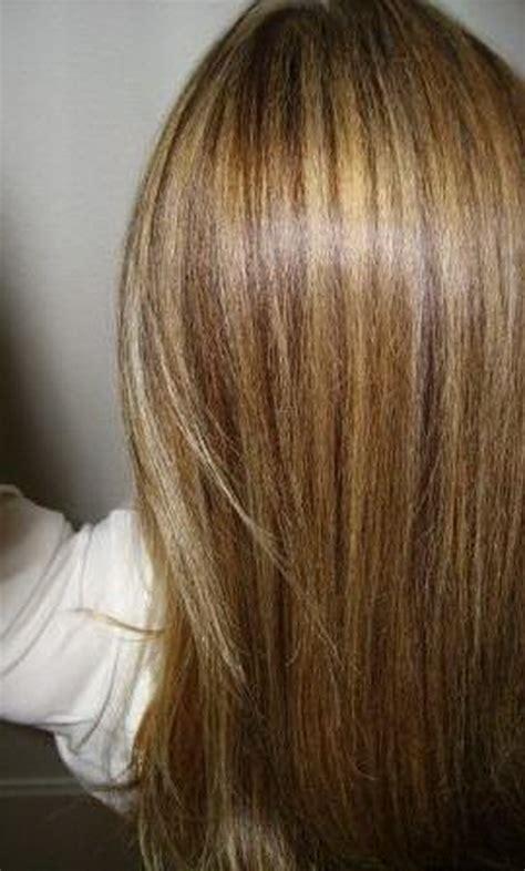 braune haare mit blonden straehnen bilder