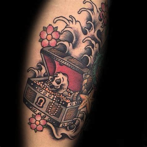 treasure tattoo 40 treasure chest designs for valuable ink ideas
